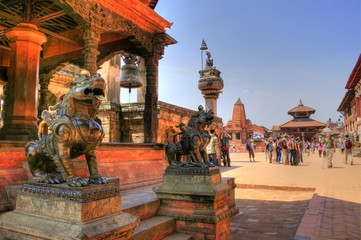 Recess Fitting Nepal Temple in Bhaktapur (Nepal)