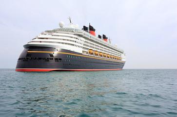 Fototapete - modern cruise ship on sea