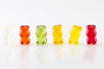 In de dag Snoepjes farbige Gummibaerenreihe