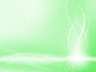 Green Beautiful Pastel Background with stars and swirls.