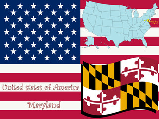 maryland state illustration