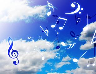 軽快な音楽
