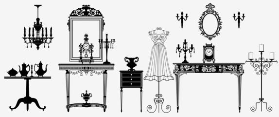 Photo sur Aluminium Art Studio original antique furniture collection
