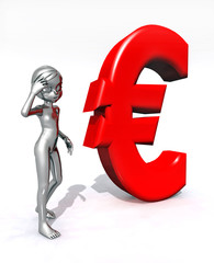 Euro Symbol mit Figur