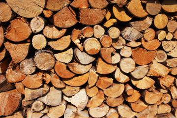 Photo sur Aluminium Texture de bois de chauffage A background of wood stock