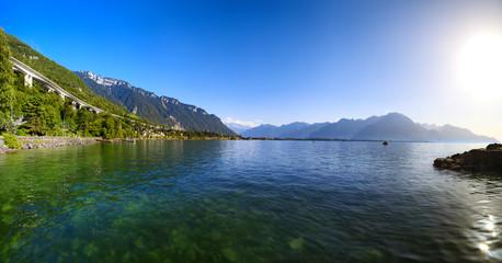 Wall Mural - Geneva lake in Switzerland
