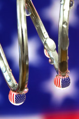 American Flags and Water Drops