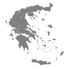 landkarte griechenland