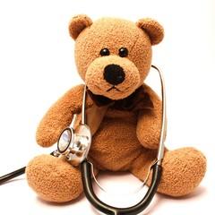 Teddy mit Stethoskop