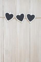 Herzen auf Leine