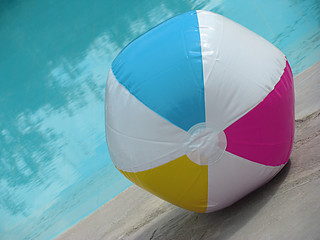 Colorful ball on the pool