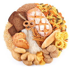 Bread and bakery products in the form of a circle