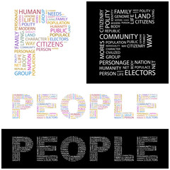 PEOPLE. Wordcloud vector illustration.