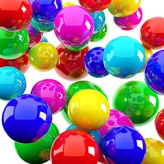 bright balls as background