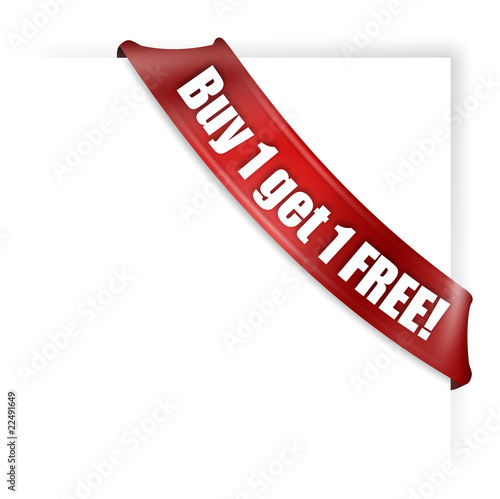 """buy 1 Get 1 Free Banner"" Stock Photo And Royaltyfree"