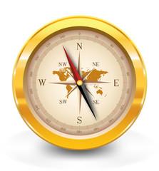 Golden compass-vector