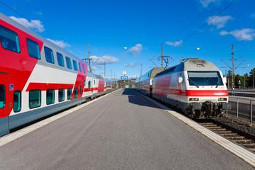 Passenger trains in Helsinki, Finland