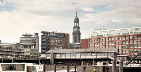 panoramic view to Hamburg