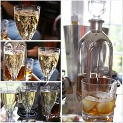 illustration champagne et alcool