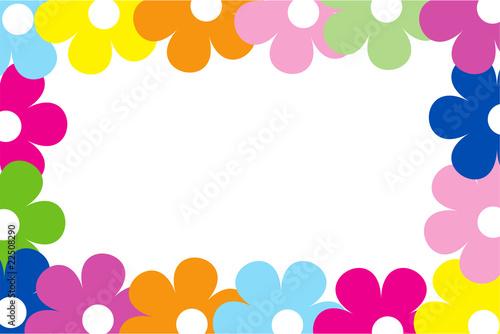 Cornice fiori immagini e vettoriali royalty free su for Cornici per foto colorate