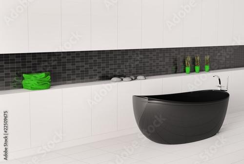 schwarze badewanne 3d stockfotos und lizenzfreie bilder auf bild 22509675. Black Bedroom Furniture Sets. Home Design Ideas