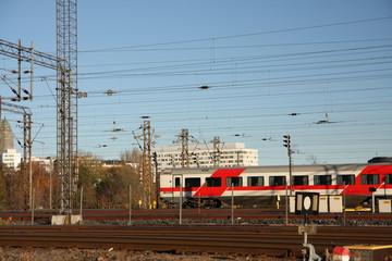 Deurstickers Treinstation Train