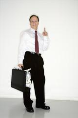 Confident wealthy businessman