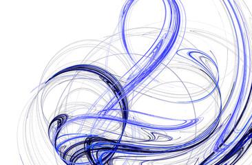 Blue wavy lines