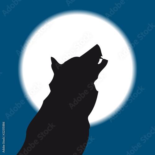 Lobo Aullando A La Luna Imágenes De Archivo Y Vectores Libres De