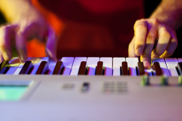 Person Playing Electric Piano