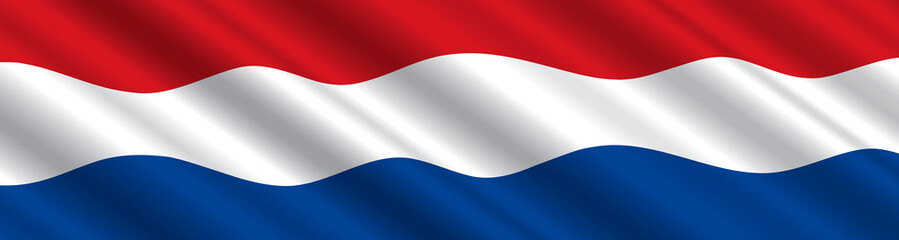 Dutch Flag in the Wind