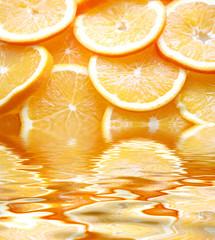 Spoed Foto op Canvas Plakjes fruit orangenscheiben