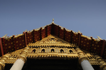 Above the entrance of temple