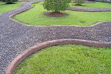 Garden path, massage for feet