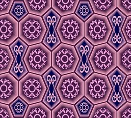 Seamless ornament tile pattern