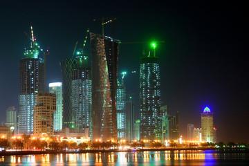 Doha Qatar - Night scene