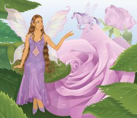 Fotobehang Pony Violet fairy.