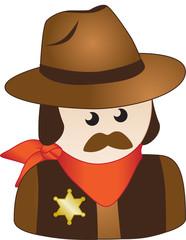 Cowboy Sheriff Icon