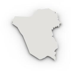 Landkarte Irak, einfach