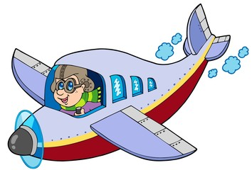 Cartoon aviator