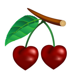 Cherry in the form of heart