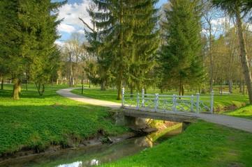 Small bridge in a beautiful park