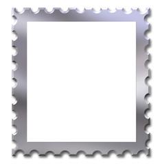 Chrome stamp frame