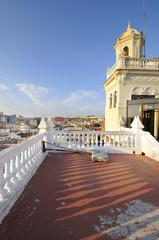 Vintage Havana building and cityscape