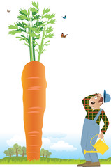 Farmer and a carrot
