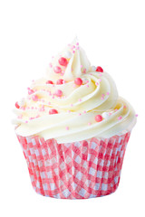 Wall Mural - Pink and white cupcake