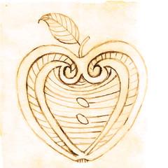apple decorative pattern