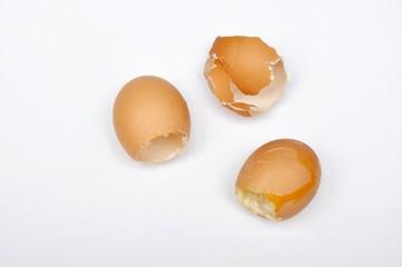 Eierschalen, leer
