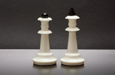 White chess in black backround