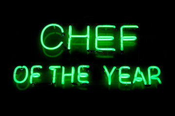 CHEF of the year neon sign